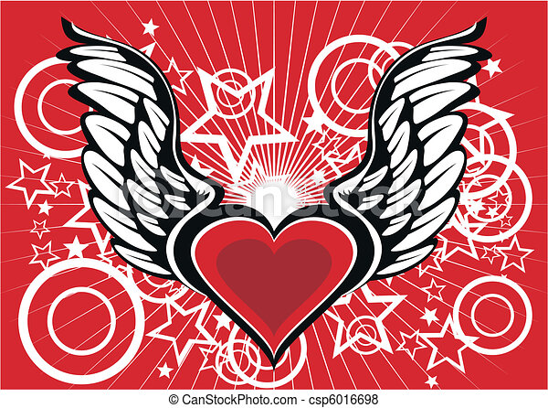 winged heart wallpaper2 - csp6016698