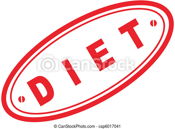 diet word stamp4 - csp6017041
