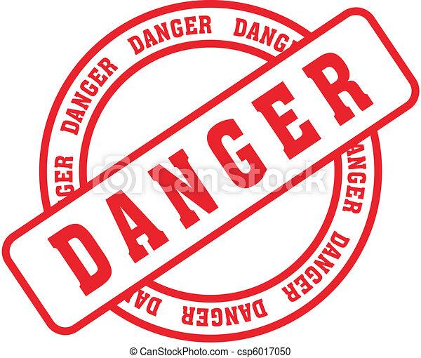 danger word stamp5 - csp6017050