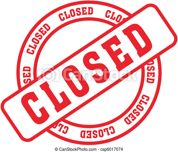 closed word stamp3 - csp6017074