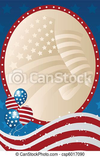 Fourth of July banner - csp6017090