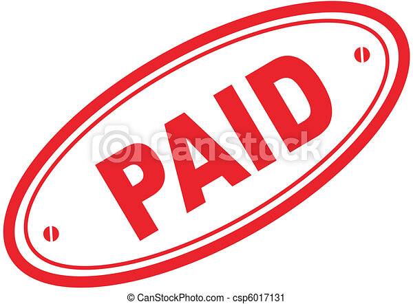 paid word stamp - csp6017131