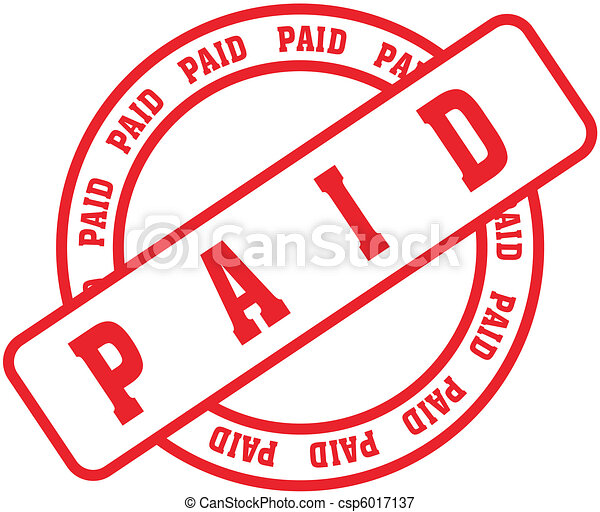 paid word stamp1 - csp6017137