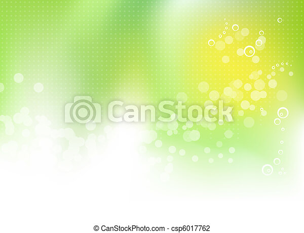 Abstract green spring background - csp6017762