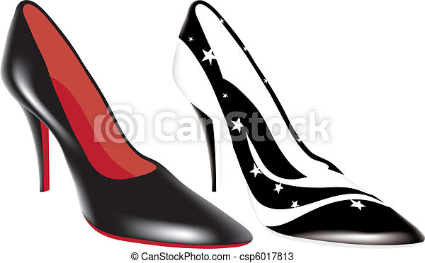 high heel shoes of different colors - csp6017813
