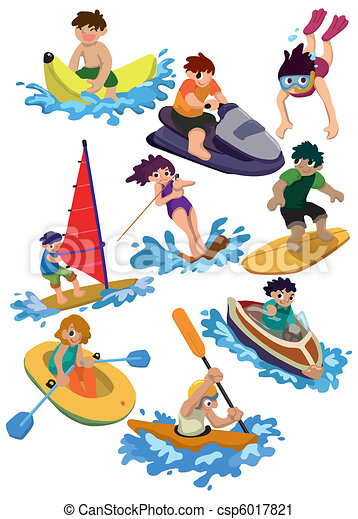 cartoon water sport icon  - csp6017821