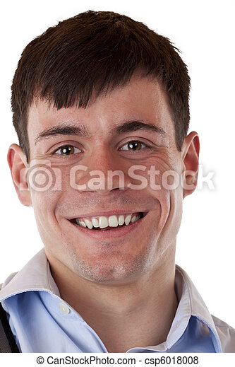 Portrait of a young smiling man. - csp6018008