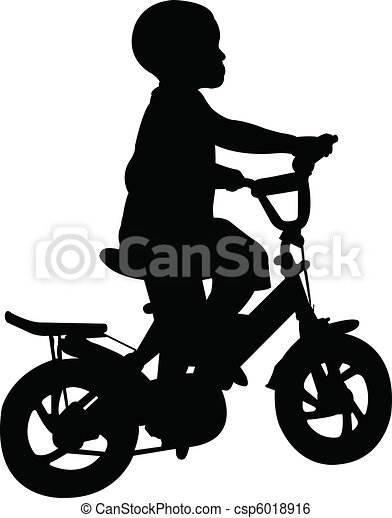 Kid Riding Bike Drawing