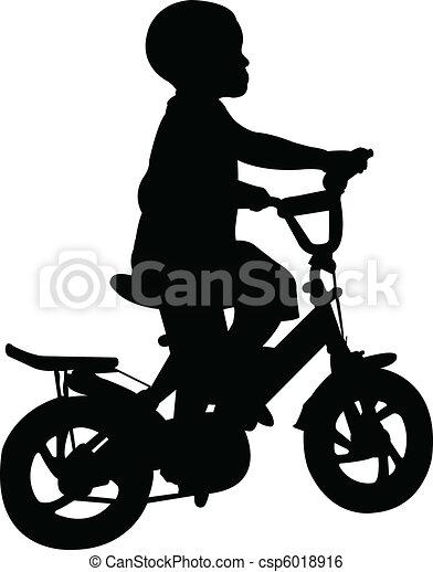 boy riding bicycle - csp6018916