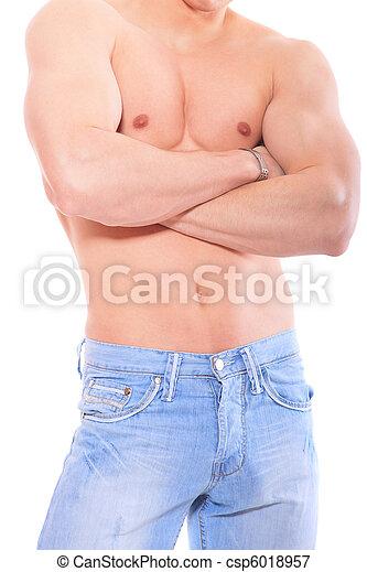Muscular male torso - csp6018957