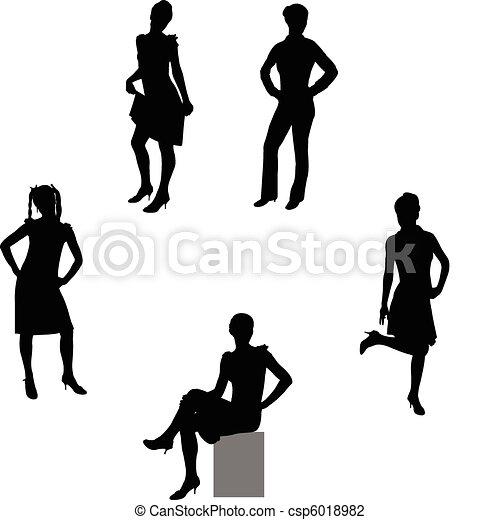 attractive girls - csp6018982