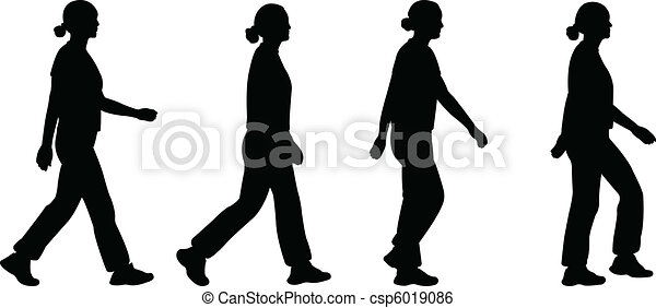 girl walking - csp6019086