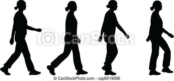 girl walking - csp6019086