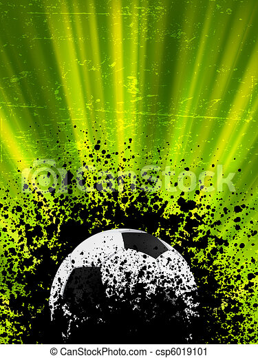 Grunge burst football poster. EPS 8 - csp6019101