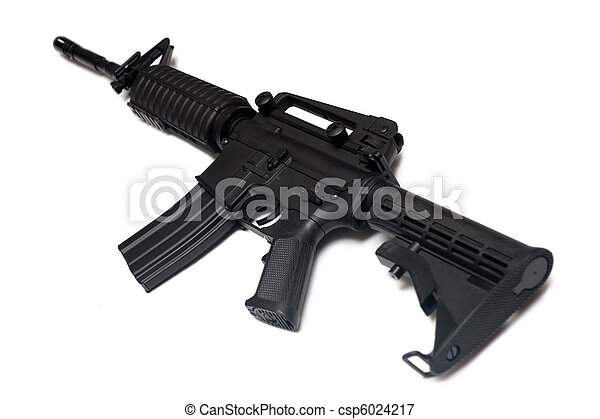 US Army M4A1 rifle. Special Forces weapon. - csp6024217