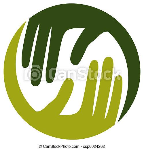 Natural caring hands design.  - csp6024262