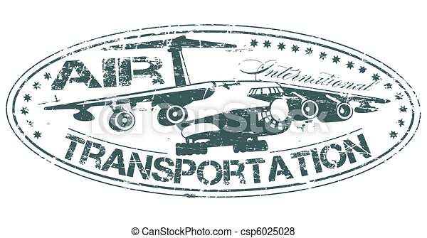 Air transportation stamp - csp6025028