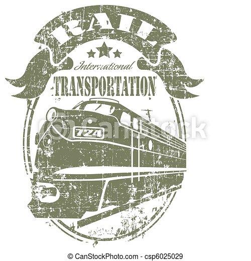 Rail transportation stamp - csp6025029