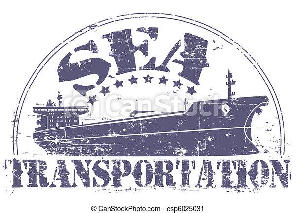 Sea transportation stamp - csp6025031