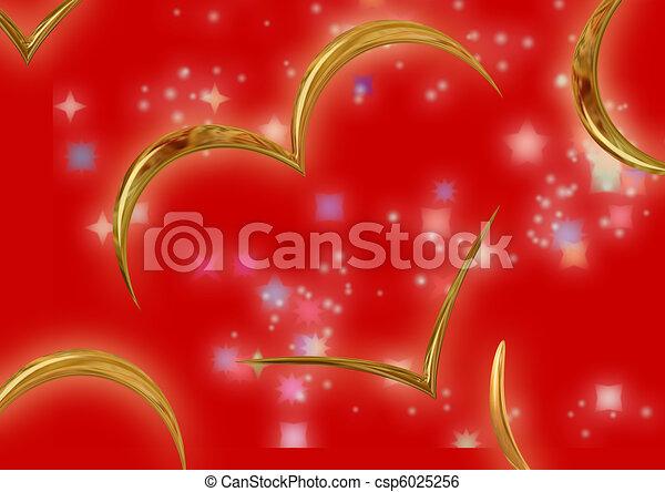 Congratulatory card_love - csp6025256