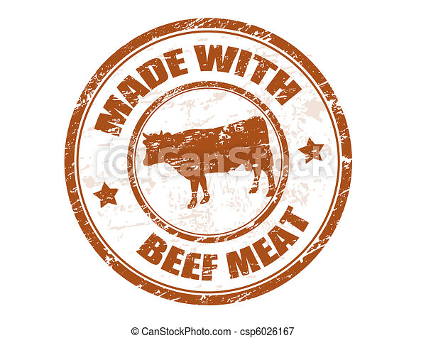 made with beef meat stamp - csp6026167