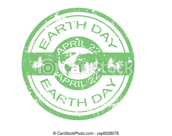 earth day stamp - csp6028076