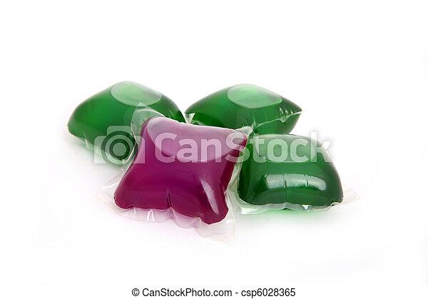 Gel capsules with laundry detergent - csp6028365