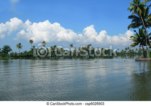 Tourism in Kerala India - csp6028903