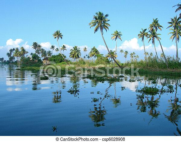 Tourism in Kerala India - csp6028908