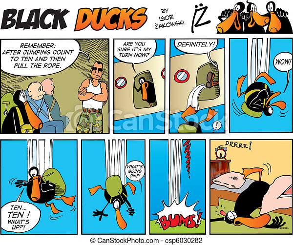 Black Ducks Comics episode 8 - csp6030282