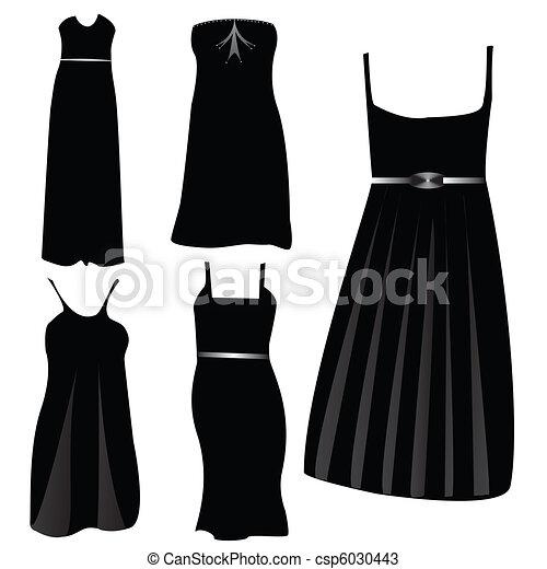 modern formal dresses - csp6030443