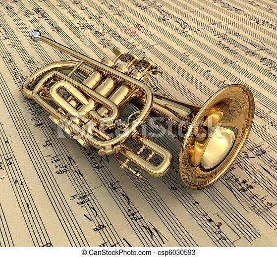 zeichnungen von trompete 3d  render  von  a  trompete clip art trumpet vine clip art trumpet player