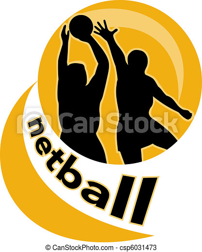Stock Illustration - netball player jumping ball - stock illustration ...