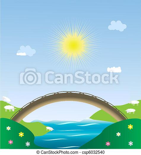 landscape pastoral - csp6032540