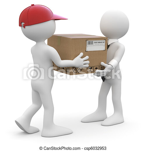 Worker delivering a package - csp6032953