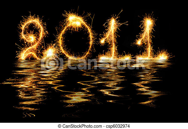 2011 made of sparks in water - csp6032974
