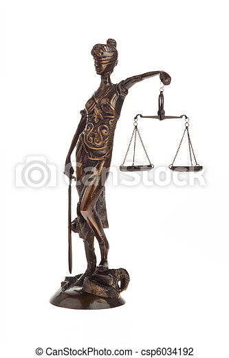 Justice with scales for Law and Justice - csp6034192
