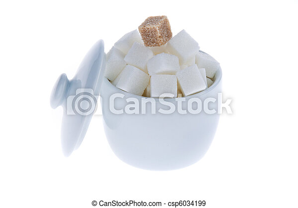 Brown sugar. Unhealthy diet with carbohydrate - csp6034199