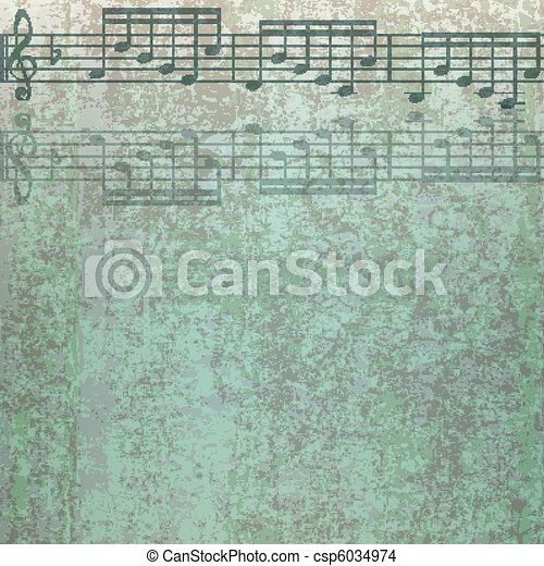 abstract cracked music background - csp6034974
