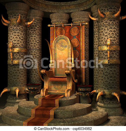 fantasy throne room - csp6034982