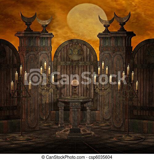 spooky altar - csp6035604