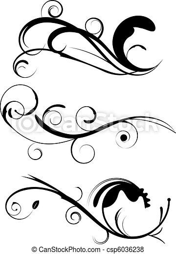 Decorative Flourishes Set 1 - csp6036238