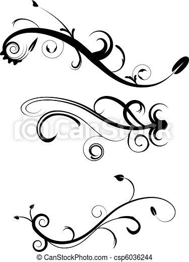 Decorative Flourishes Set 2 - csp6036244