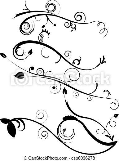 Decorative Flourishes Set 4 - csp6036278