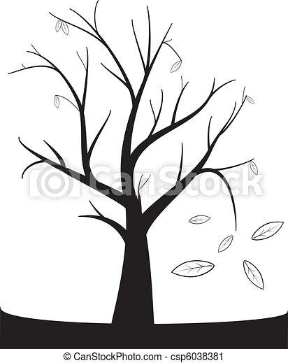 Clip art vecteur de automne arbre noir mort arbre - Dessiner un arbre d automne ...