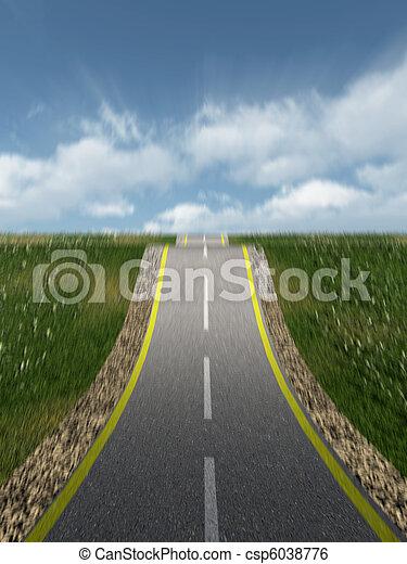 automobile highway  - csp6038776