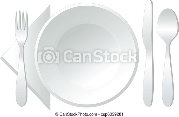 empty plate, vector - csp6039281