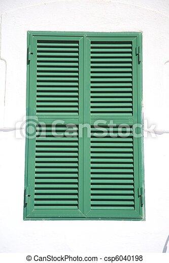 green shutter  - csp6040198