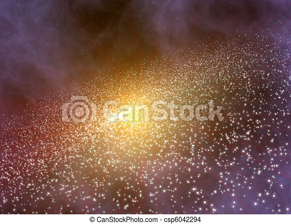 Deep space background with galaxy - csp6042294