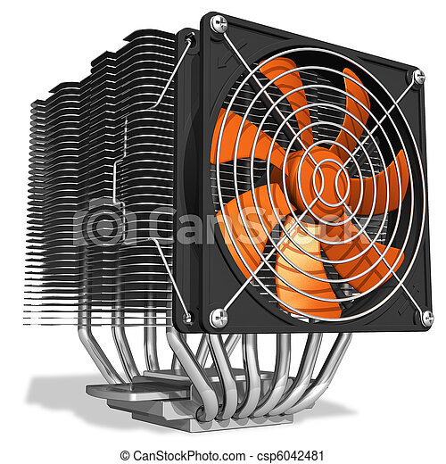 Powerful CPU cooler with heatpipes - csp6042481